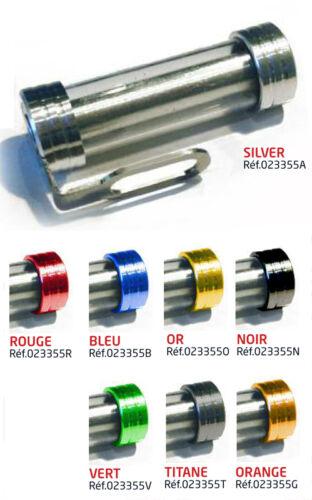 Porte support vignette assurance etanche aluminium tube cylindrique OR