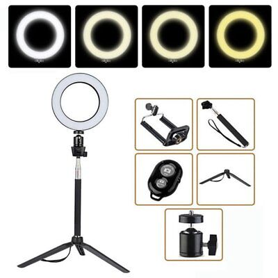 """6/'/' LED Ring Light Dimmable Lighting Selfie TripodMakeup Youtube Live Phone 8/"""""""