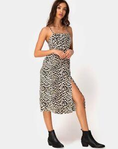 MOTEL-ROCKS-Kaoya-Midi-Dress-in-Cheetah-S-Small-MR64