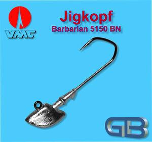 2-x-VMC-Barbarian-Jig-5150-BN-4-0-16g-Jigkopf-Jighaken-Eriekopf-Bleikopf