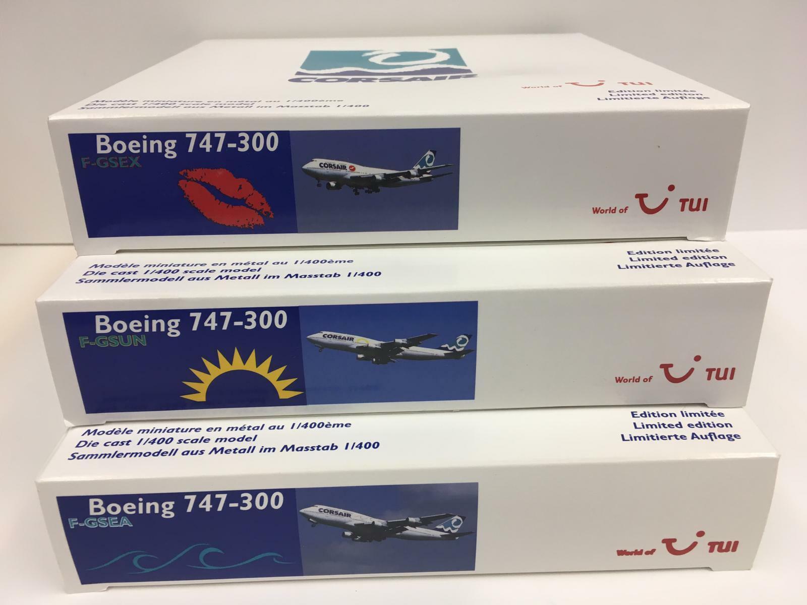 Gemini Jets 1 400 Corsair 747-300 Conjunto de 3