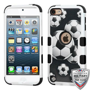 iPod-Touch-5th-6th-Gen-Hybrid-Tuff-Case-Cover-Soccer-Ball-Screen-Protector