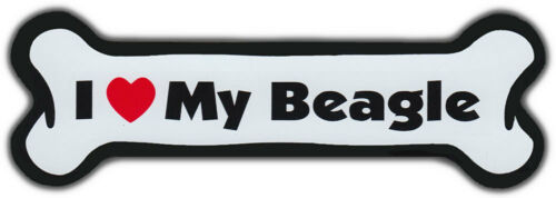 I LOVE MY BEAGLEDogs Doggy PuppyCar Automobile Dog Bone Magnet
