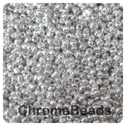 Métallisé argent 100g verre rocailles-Choisir Taille 6//0 8//0 Ou 11//0 4, 3, 2 mm