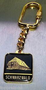 Porte clé noir waldhaus Forêt-Noire souvenir BLACK FOREST GOLD keyring  </span>