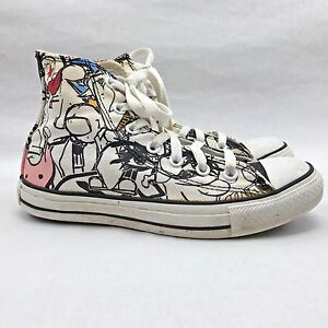 Converse Hi Tops Distressed Graffiti Pop Art Style You Color Size ...