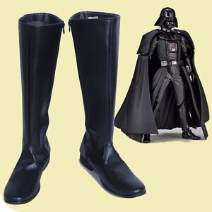 Star Wars Darth Vader Cosplay Boots Black Shoes Cos Accessories Customized J.038
