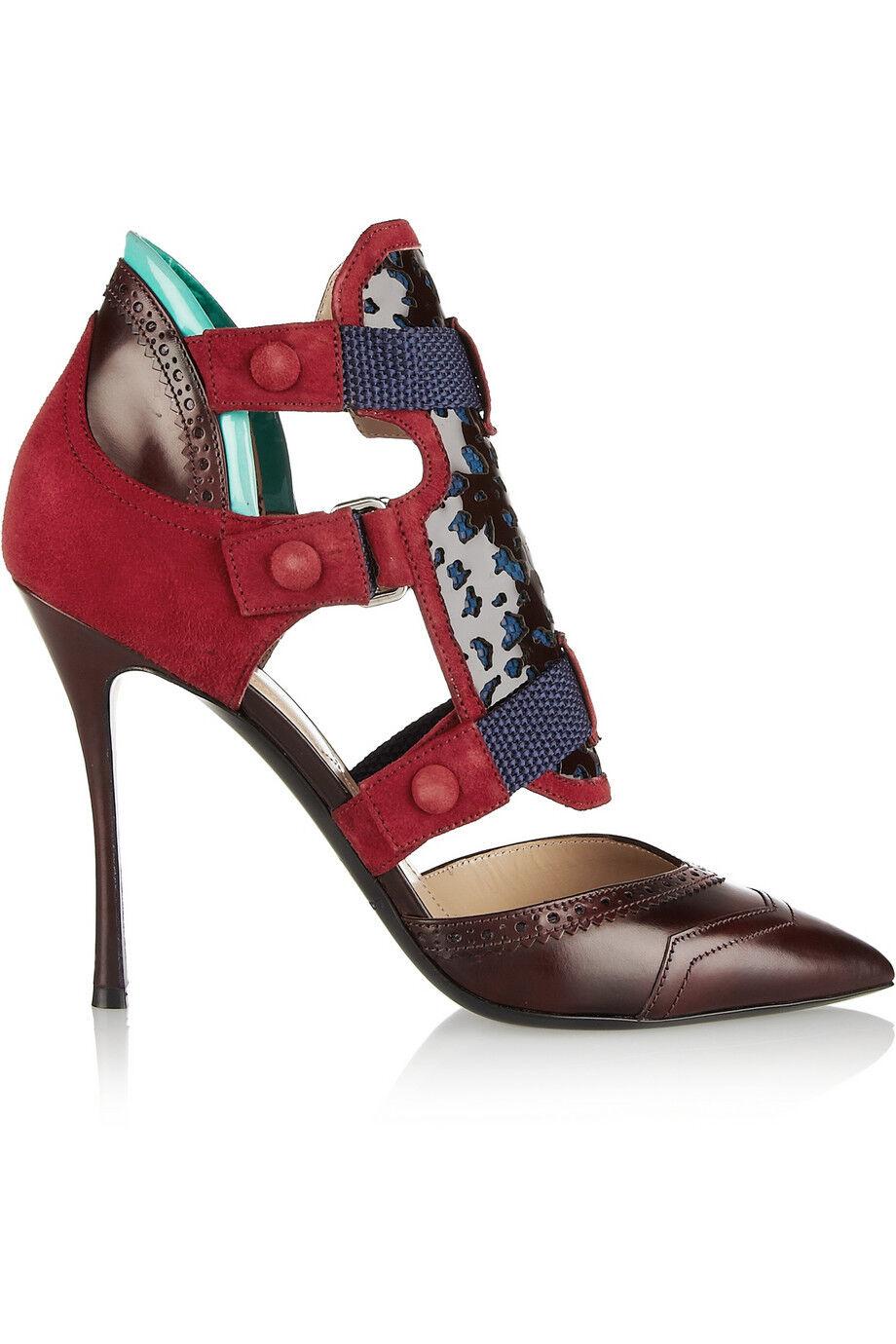 NICHOLAS KIRKWOOD x Peter Pilotto Dark Red Oxford Pumps shoes  1,190 NEW