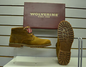 6c7a9e7f938 Details about Wolverine Cort Brown Leather Waterproof Chukka Boots UK Sizes  7 - 12