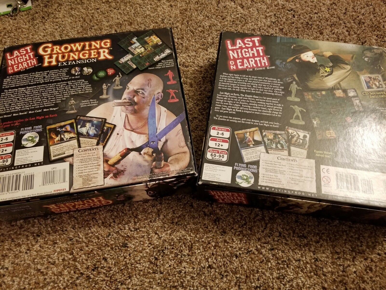 Last Night Night Night On Earth Board Game+ Growing Hunger Expansion Zombie Horror  b8cb34