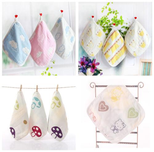 100/% Cotton Newborn Baby Muslin Squares Baby Bib Reusable Soft Handkerchief 0-3M