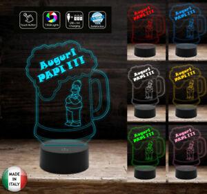 Idea-regalo-COMPLEANNO-O-FESTA-DEL-PAPA-Lampada-led-7-colori-Touch-Boccale-birr