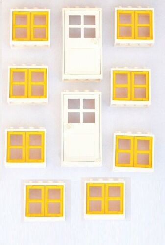 2x4x3 with Panes /&  2 Doors  Town City NEW LEGO 8 House Windows