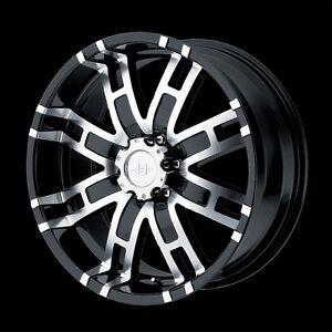 17 inch Black Truck Wheels Rims 5 Lug Dodge RAM 1500 Ford