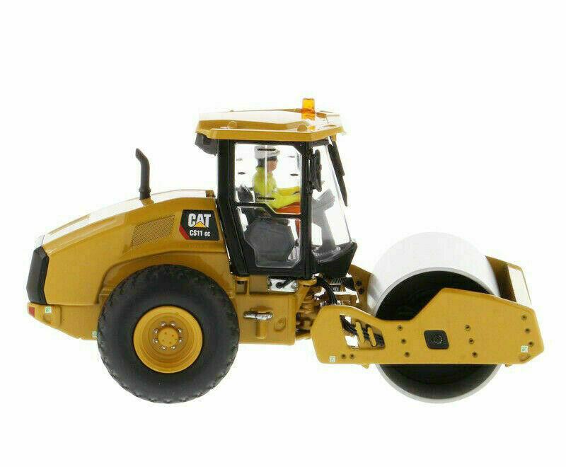 Diecast Masters 85589 1 50 CAT Caterpillar CS11 GC Vibratory Soil Compactor Toy