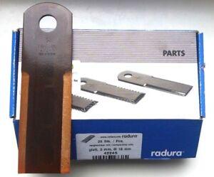 RASSPE Schlegelmesser Strohhäcksler Messer glatt 4 mm 060017 Biso 2814//3