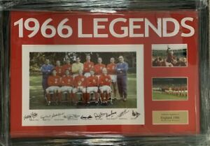 Multi-Signed-Framed-England-1966-World-Cup-Winners-Autograph-Photo-Hurst-Peters