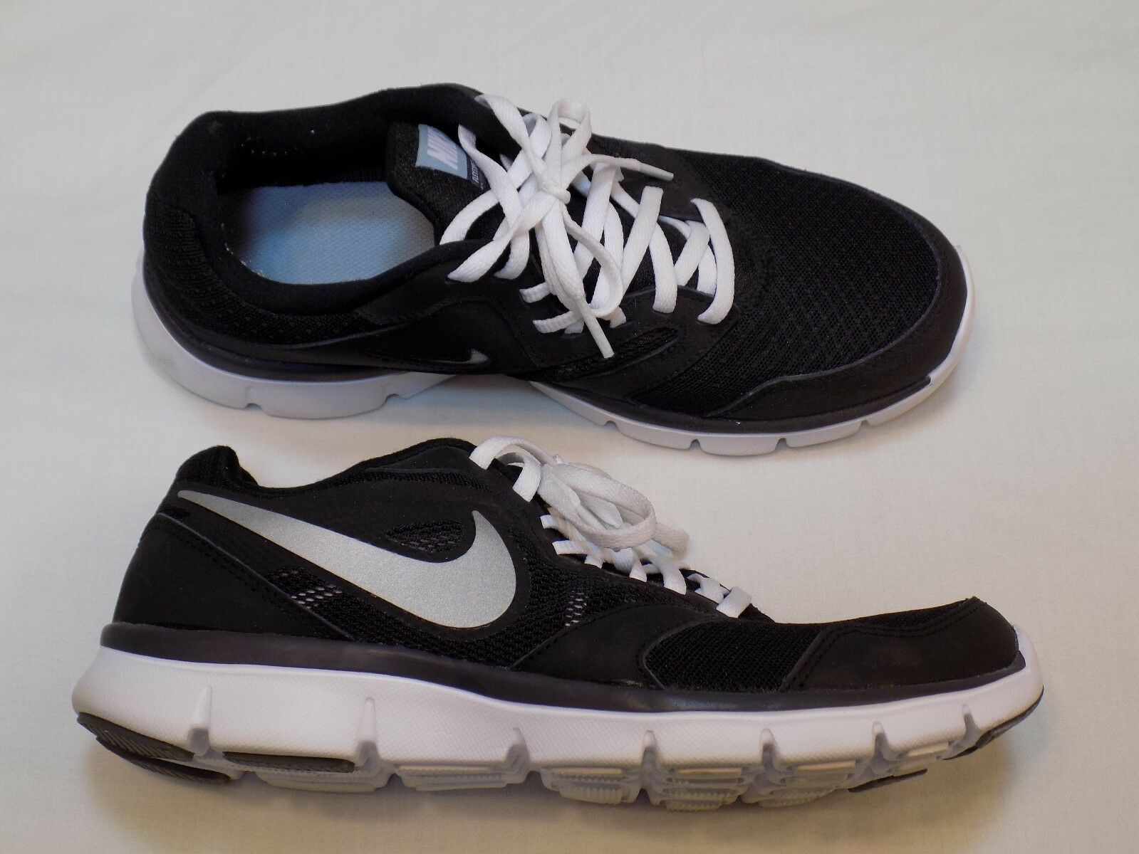 8.5 Nike Flex Experience 3 Womens Running Shoes Black White Athletic 652853-008 Seasonal clearance sale