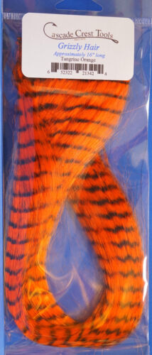 Grizzly Hair Cascade USA synthetisches Haar 40 cm Grizzly Hair Tangerine Orange