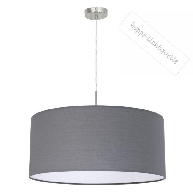Eglo Hängeleuchte Pendelleuchte Leuchte Textil Stoff grau D53cm /53G für LED