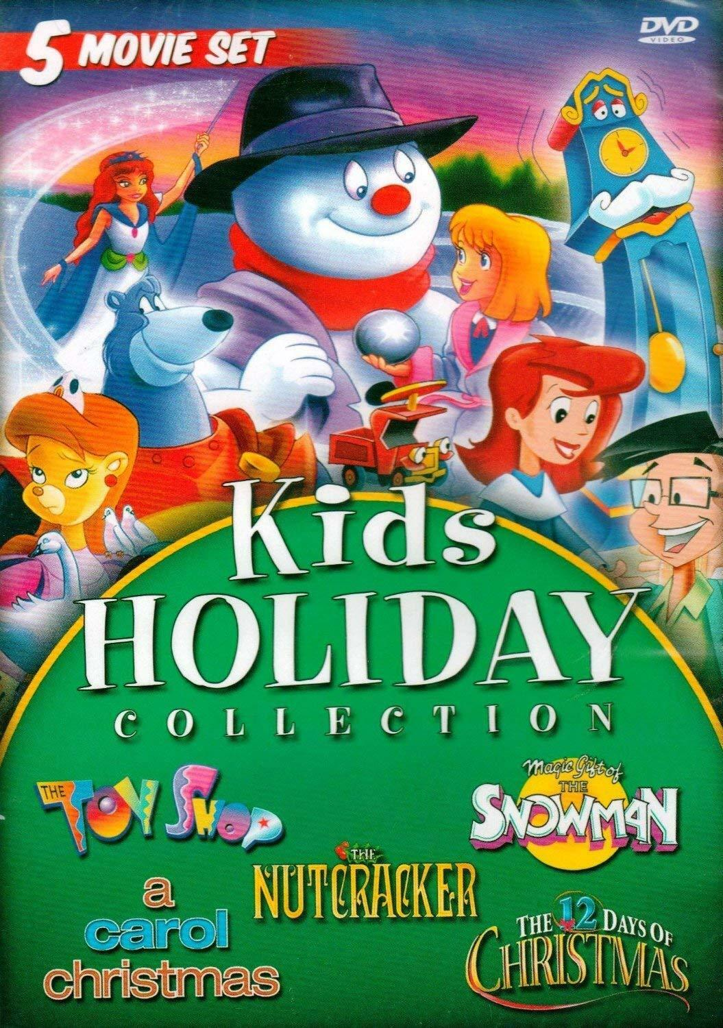 Kids Holiday Collection DVD 5 Movies Nutcracker Snowman 12 Days ...
