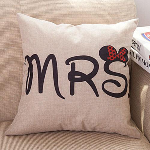 Pillow Case Cushion Cover Bed Sofa Cotton Linen Geometric Waist Throw Home Decor