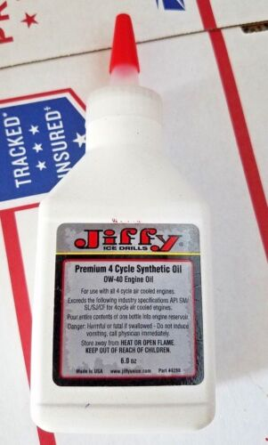 Jiffy Ice Auger Drill Premium 4 Cycle Synthetic Blend Ow-40 Engine
