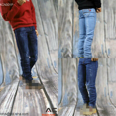 Acntoys 1//6 Female Slim Jeans Denim Pants Trousers Clothing Fit 12/'/' Figure Body