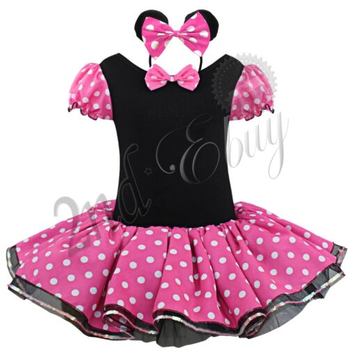 Girls Baby Toddler Cartoon Mouse Princess Outfit Party Fancy Tutu Dress Costume