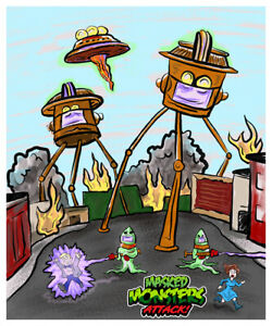 Masked-MONSTERS-ATTACK-War-Of-The-Worlds-MARTIAN-Wax-Digital-TRADING-CARD-4