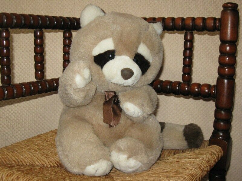 L Dake & Son Amsterdam Holland Super Soft Raccoon Plush