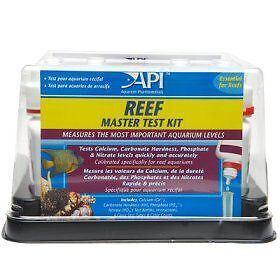 Api Reef Master Test Kit Polypes de coraux tropicaux marins Ph Nitrate Calcium