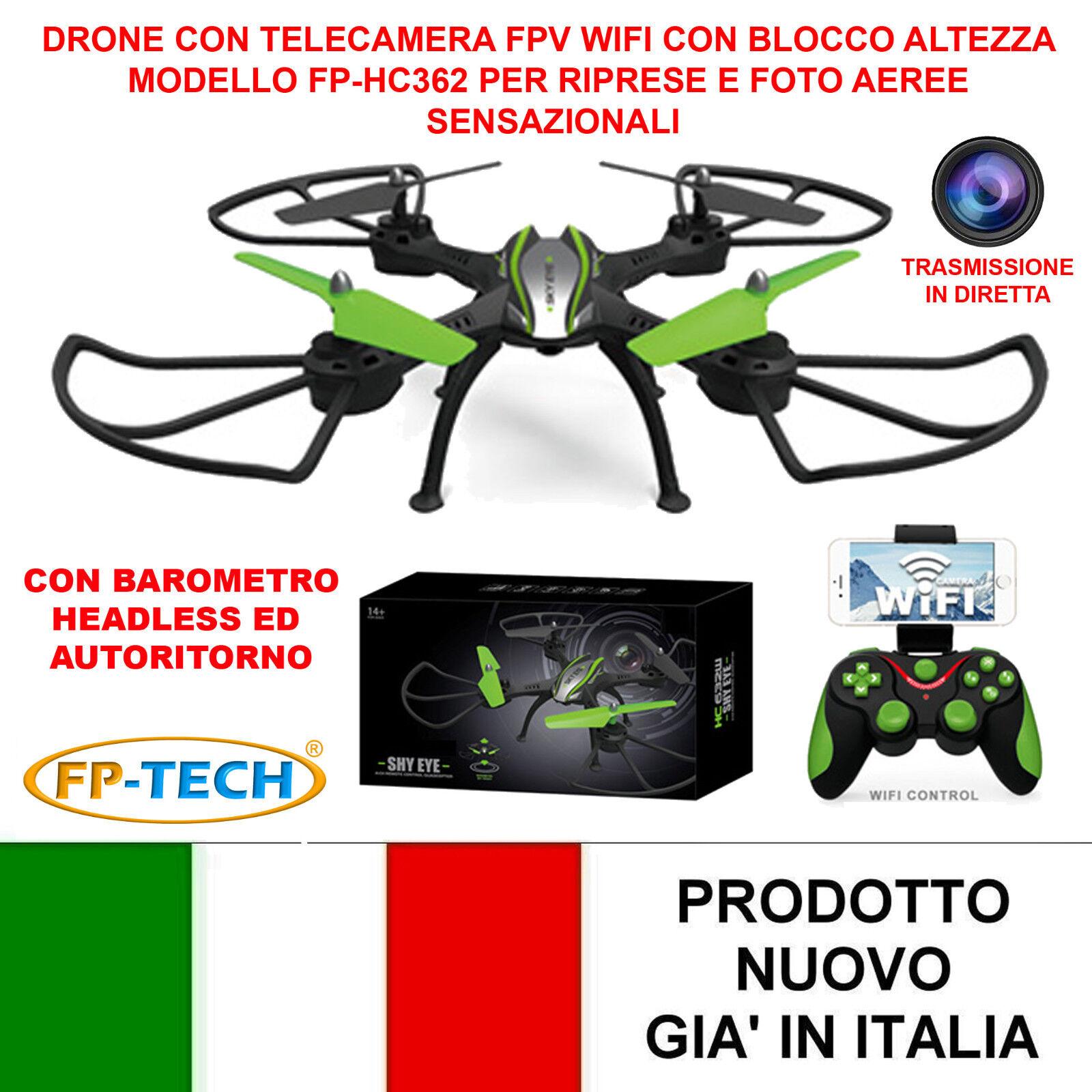 DRONE QUADRICOPTER RADICOMANDATO WIFI 2,4Ghz CAMERA HD HC632 VIDEO PHOTO USB LED