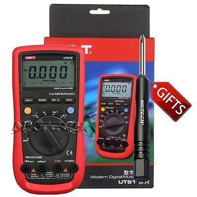 UNI-T UT61E Auto Range True RMS Digital Multimeter 22000 Counts AC DC Voltage