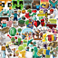 50pcs Minecraft Stickers for Car Skateboard Laptop Luggage Suitcase Sticker Bag