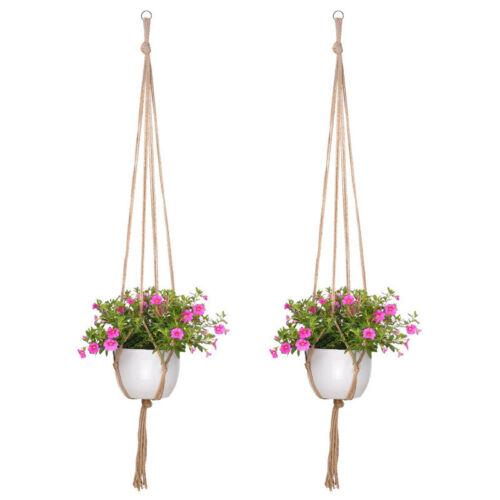 6PCS Garden Flower Pot Holder  Macrame Plant Hanger 41inch Vintage Rope Basket