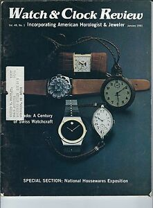 MF-100 - Watch & Clock Review Magazine, January 1981, Movado Swiss Watches