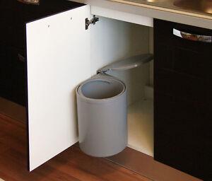 Details zu Einbau Abfalleimer Facile, 12 Liter, Schwenk Mülleimer, Küchen  Abfallsammler