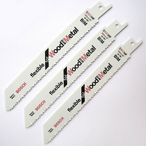 Bosch-3-S922HF-KEO-Florabest-Spare-Blades-for-Garden-Sabre-Saw-WOOD-METAL