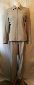 Size Wight Pant Hawksley Front amp; Lined Blend Zip Fully 8 Gray H Wool Suit amp;w wapH0
