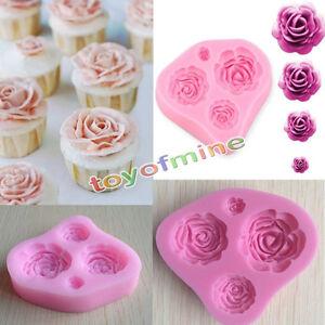 Moule Rose Fleur Silicone Pour Pate A Sucre Gateau Anniversaire