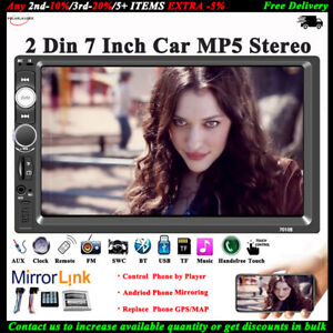 7-039-039-2-DIN-Touch-screen-Autoradio-MP5-Link-Specchio-Stereo-Bluetooth-AUX-TF-FM-USB