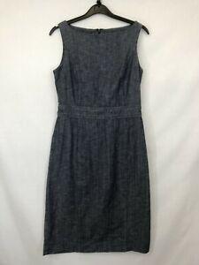 Laura-Ashley-ladies-dress-pencil-style-denim-sleeveless-blue-cotton-size-10-003