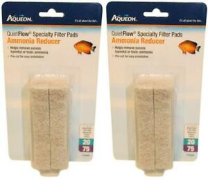 2-Pack-Aqueon-QuietFlow-20-75-Ammonia-Reducer-Filter-Pads-4-Per-Pack