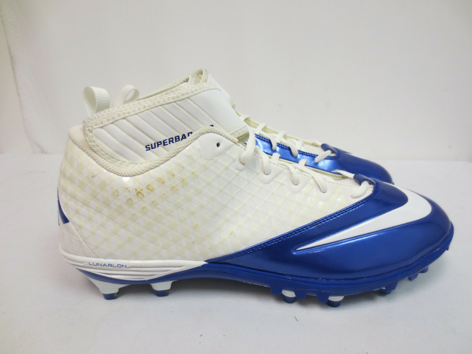 NIKE FOOTBALL CLEATS SIZE 16 LUNARLON SUPERBAD PRO GAME ISSUED MENS 534994 109