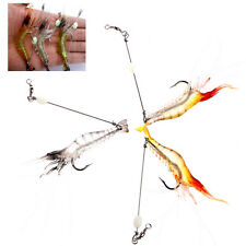 9cm Shrimp Soft Fishing Lure Artificial Bait With Glow Hook Rigs Fishing Lure