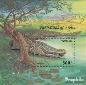 Never Hinged 1995 African P Moderate Price complete.issue. Dependable Tanzania Block302 Unmounted Mint
