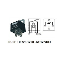 Durite 0-728-06 Relay Mini Change Over 30//40 amp 6volt bg1
