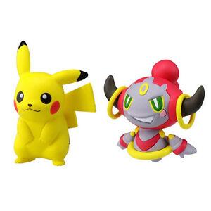 set of 2 takaratomy pokemon mc 001 pikachu mc 068 hoopa mini