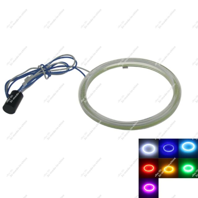 1X 80mm COB Led Halo Rings Angel Eye for Cars Headlights Multicolor Non Polarity